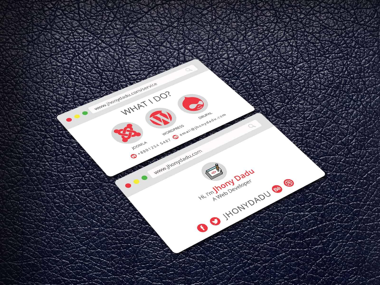Creative Designer & Web Developer Business Card
