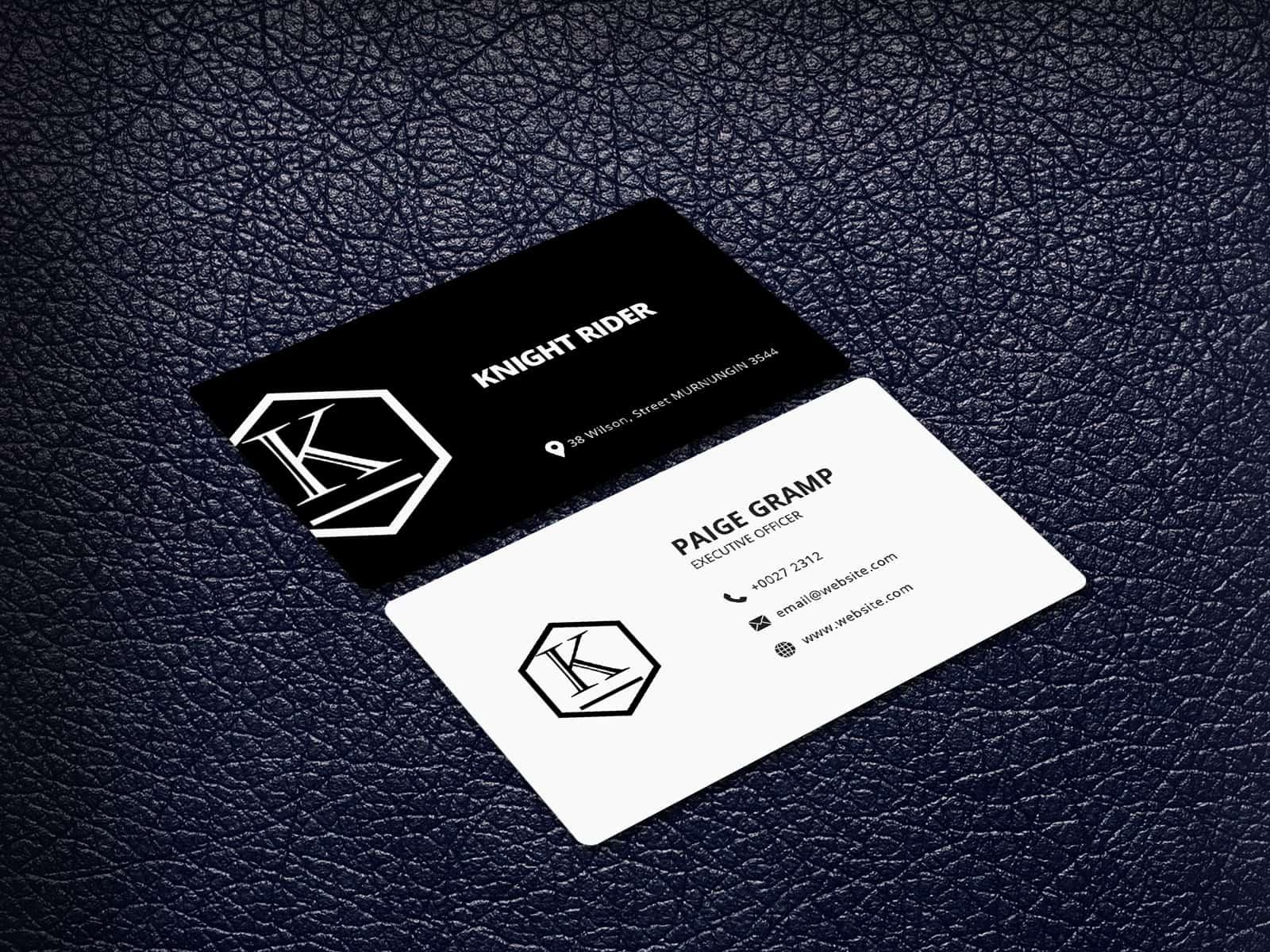 Custom Letter Logo Business card