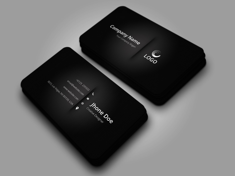 Elegant Black Business Card