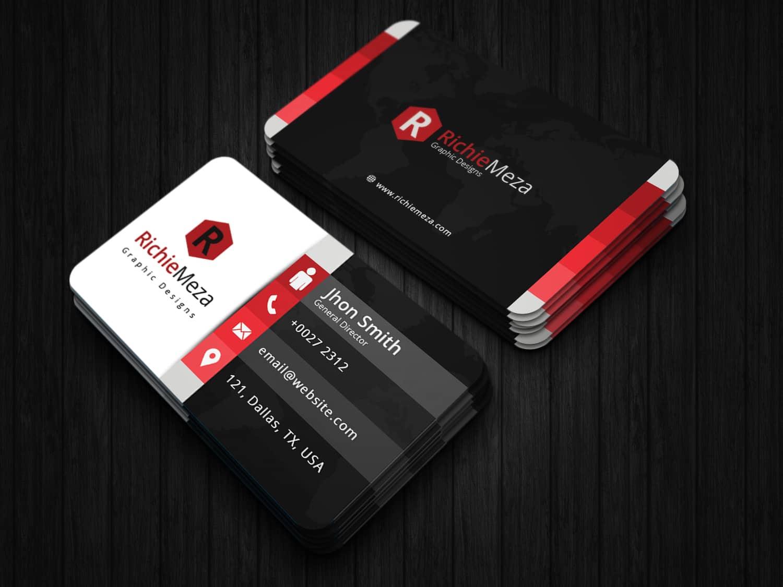 Elegant Multi Color Business Card