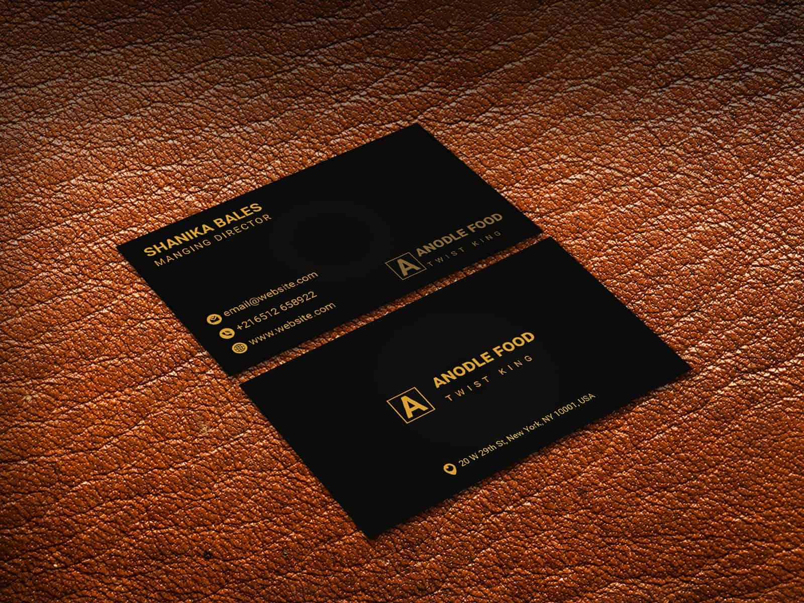 Golden Black Business card