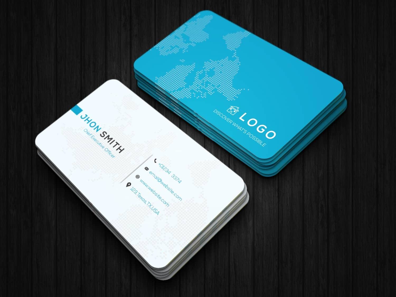 Lite World Map Business Card