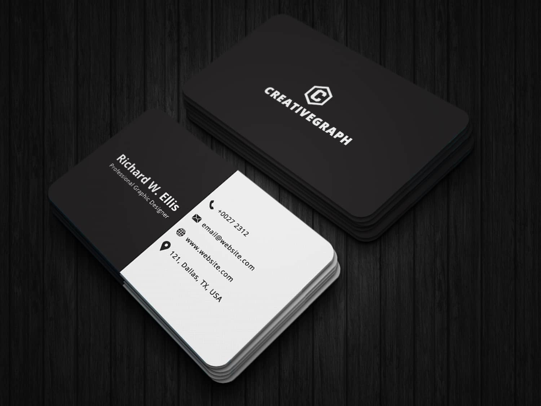 Standard Black & White Business Card
