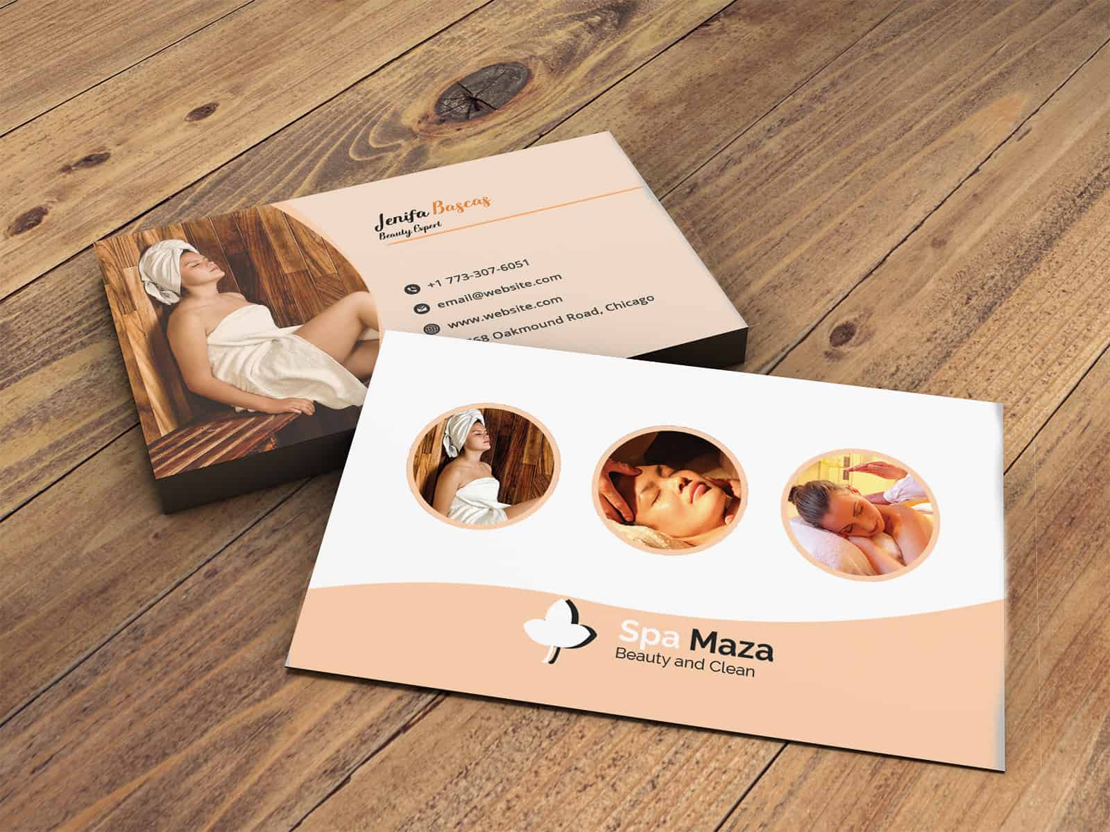 Colorful SPA Business Card