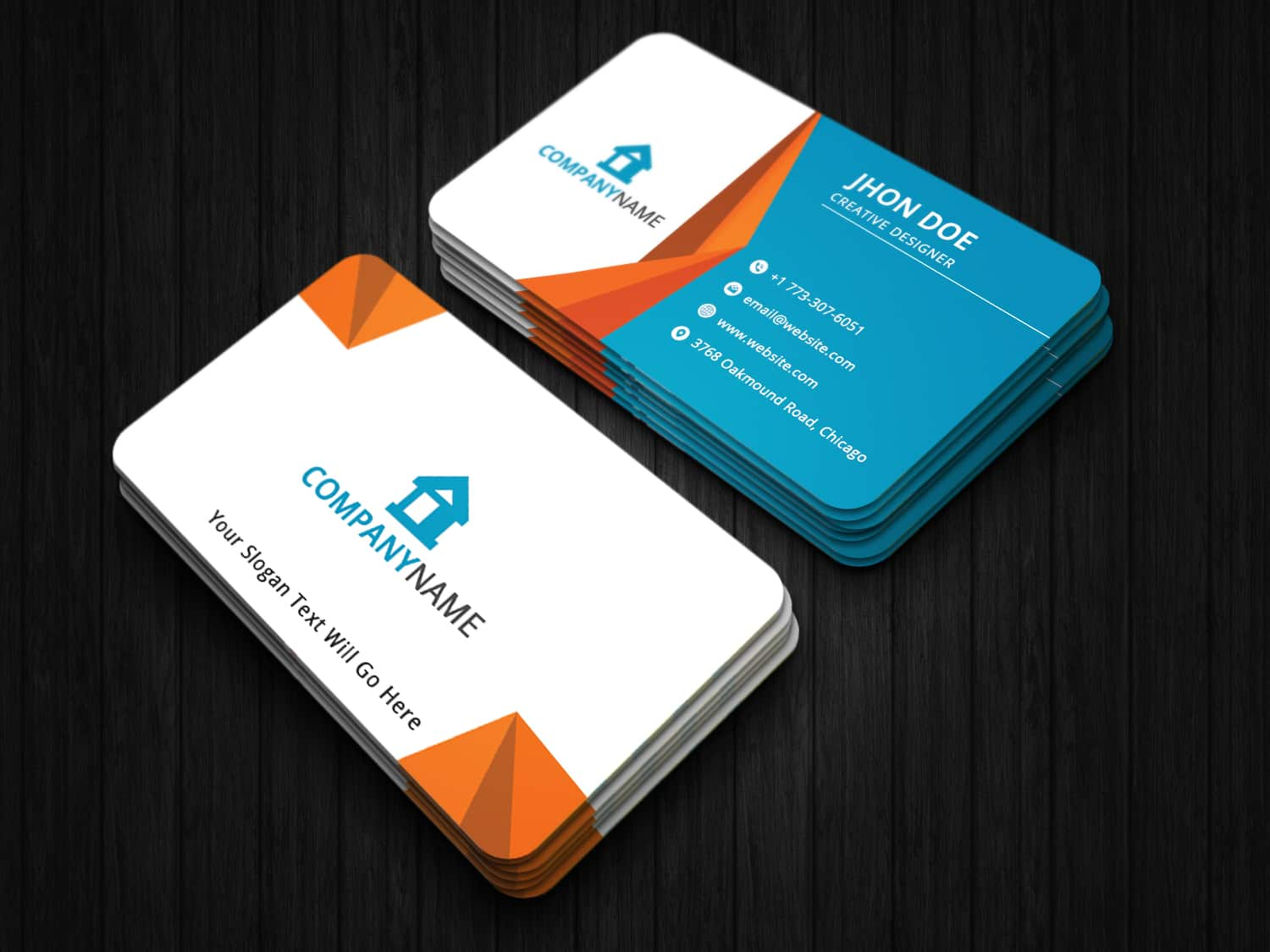 colorful shape business card