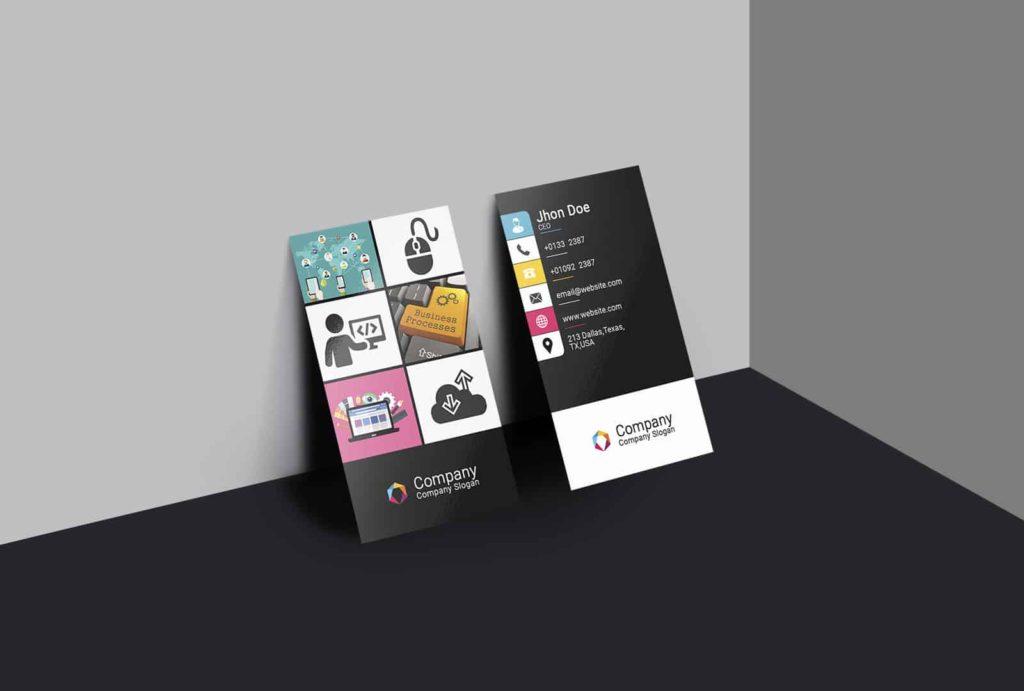 Web Developer Colorful Business Card