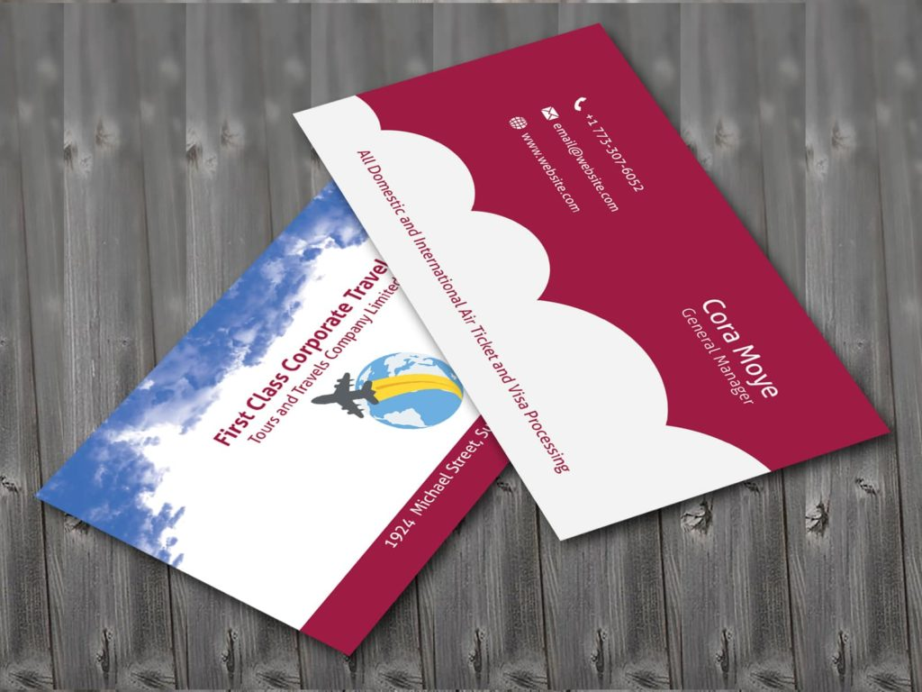 Corporate Travel Agency Business Card Template