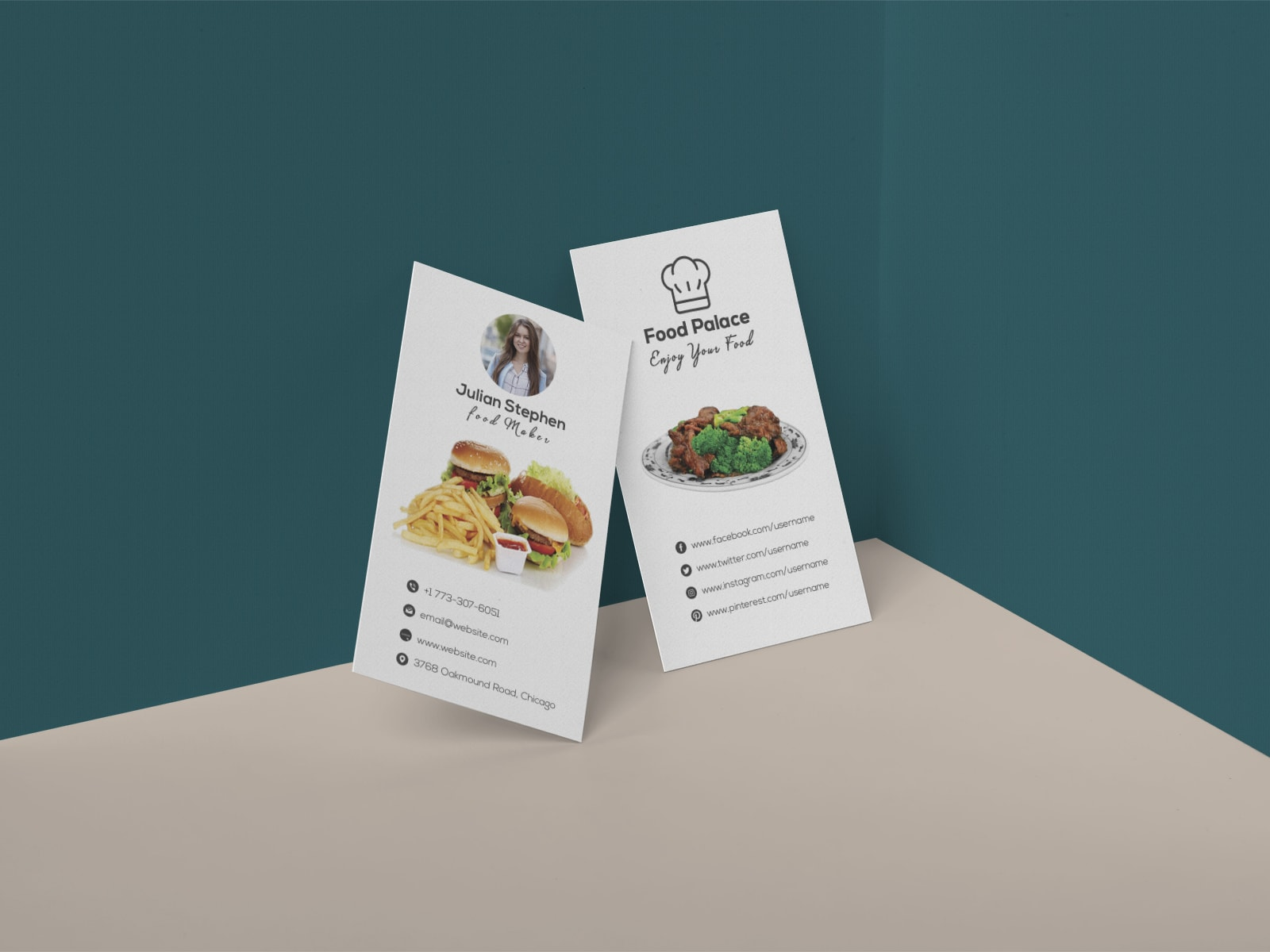 Creative Restaurant Business Card