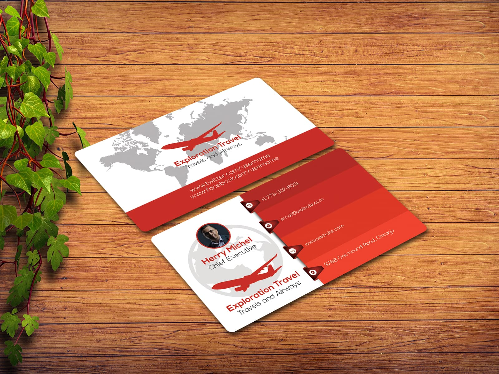 Exploration Travel Agency Business Card