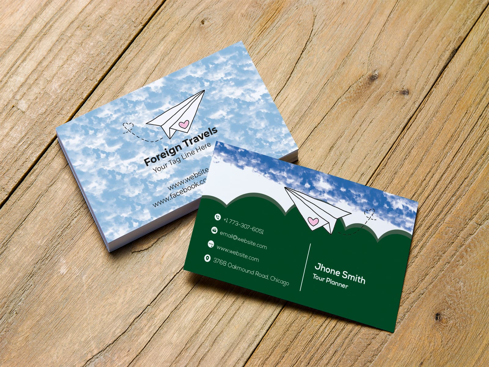 Foreign Travels Business Card Design