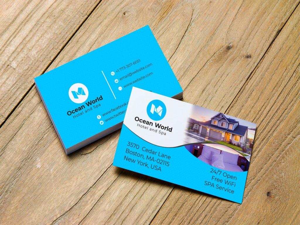 Hotel Business Card Design Template