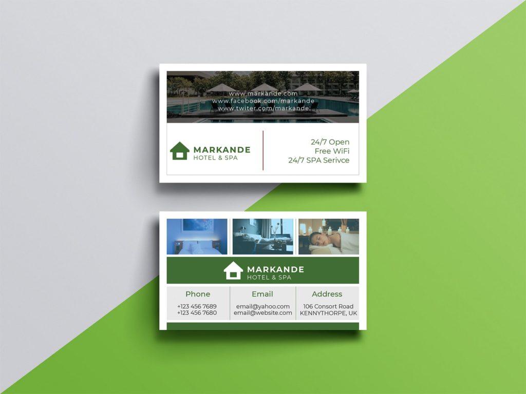 Hotel & Spa Business Card Design