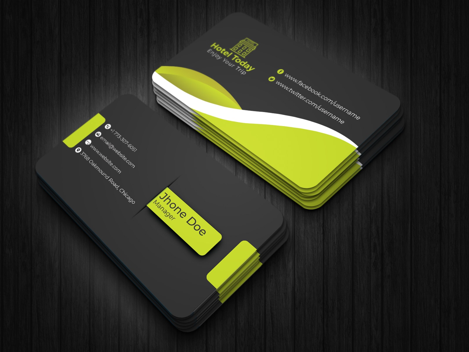 Modern Hotel Business Card Design