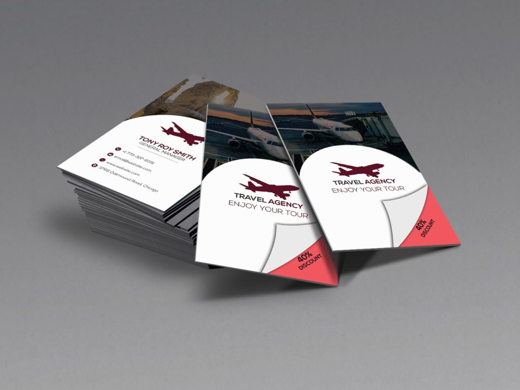 Travel Agency Discount Business Card