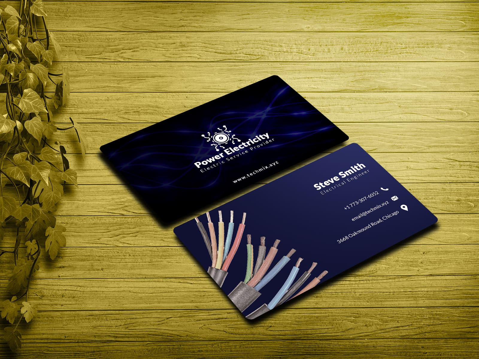 Electric Service Provider Business Card