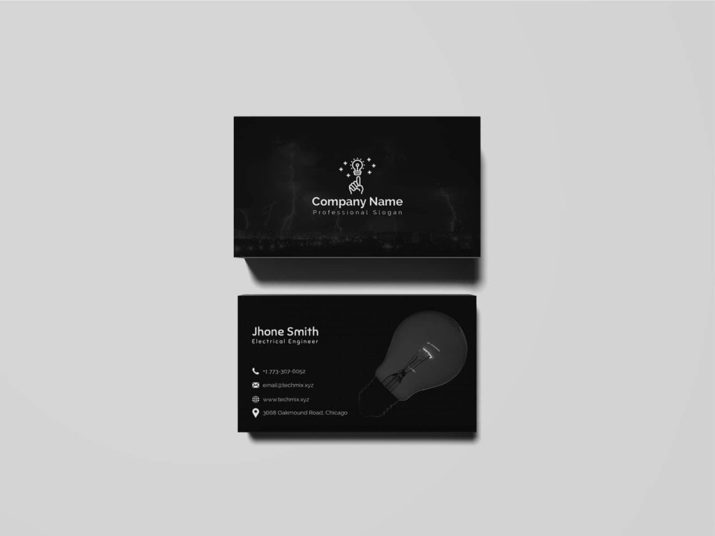 Electrical Engineer Business Card Template