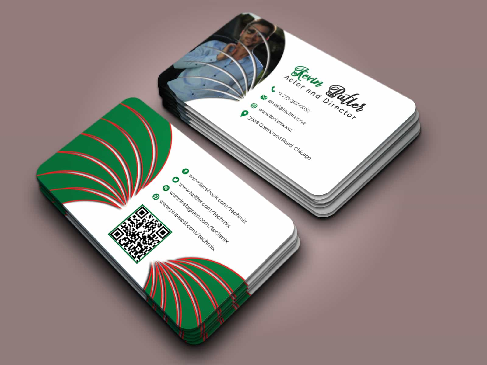 Actor Director Business Card Design
