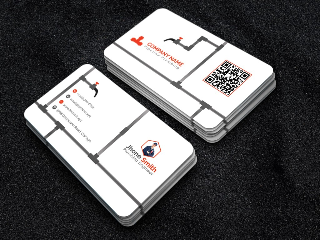 Best Plumber business card Template