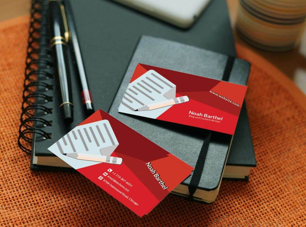 Blog and Content Writer Business Card