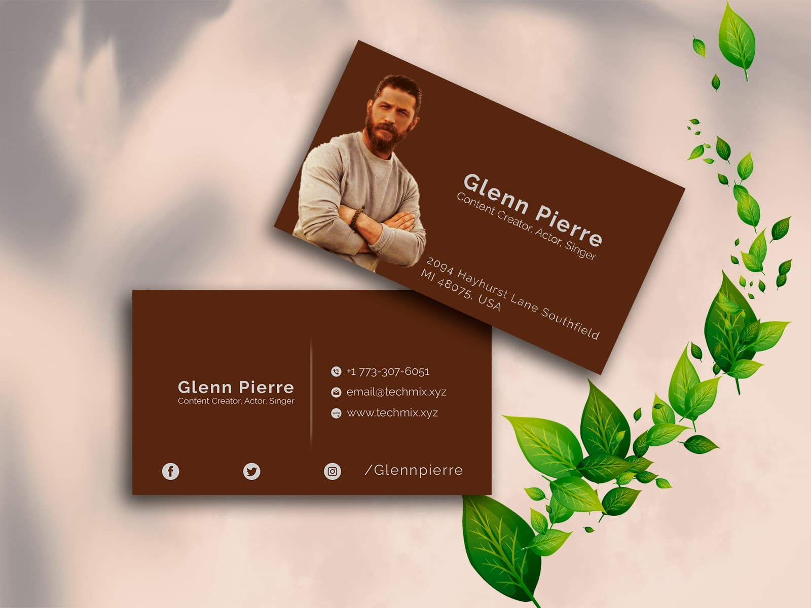 Content Creator, Actor, Singer Business Card