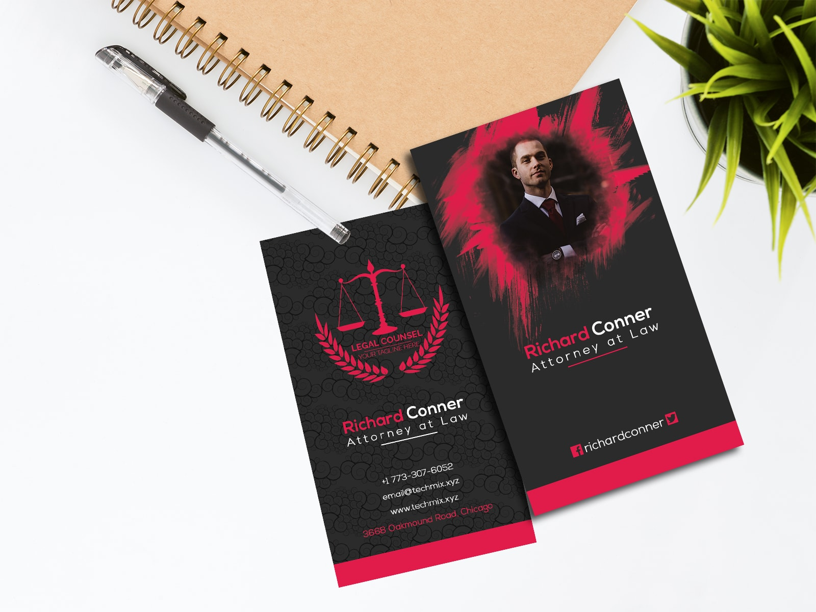 Elegant Lawyer Business Card Template