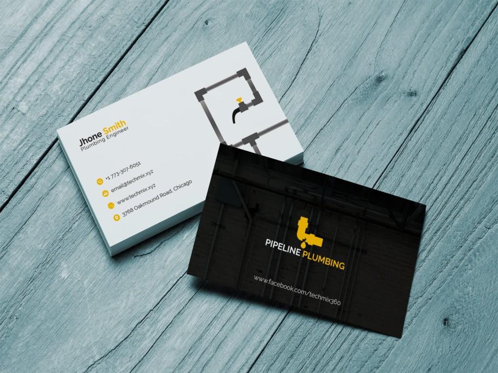 Plumbing Business Cards Template