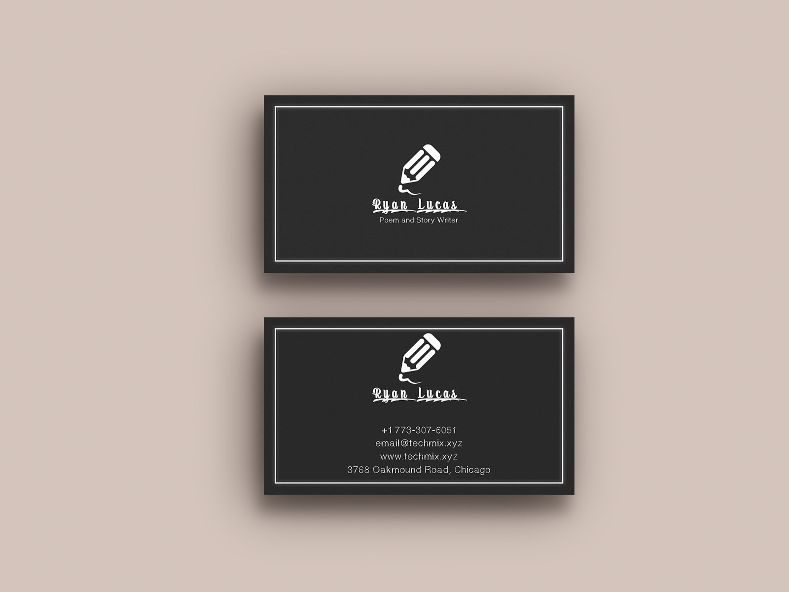 Poem and Story Writer Business Card