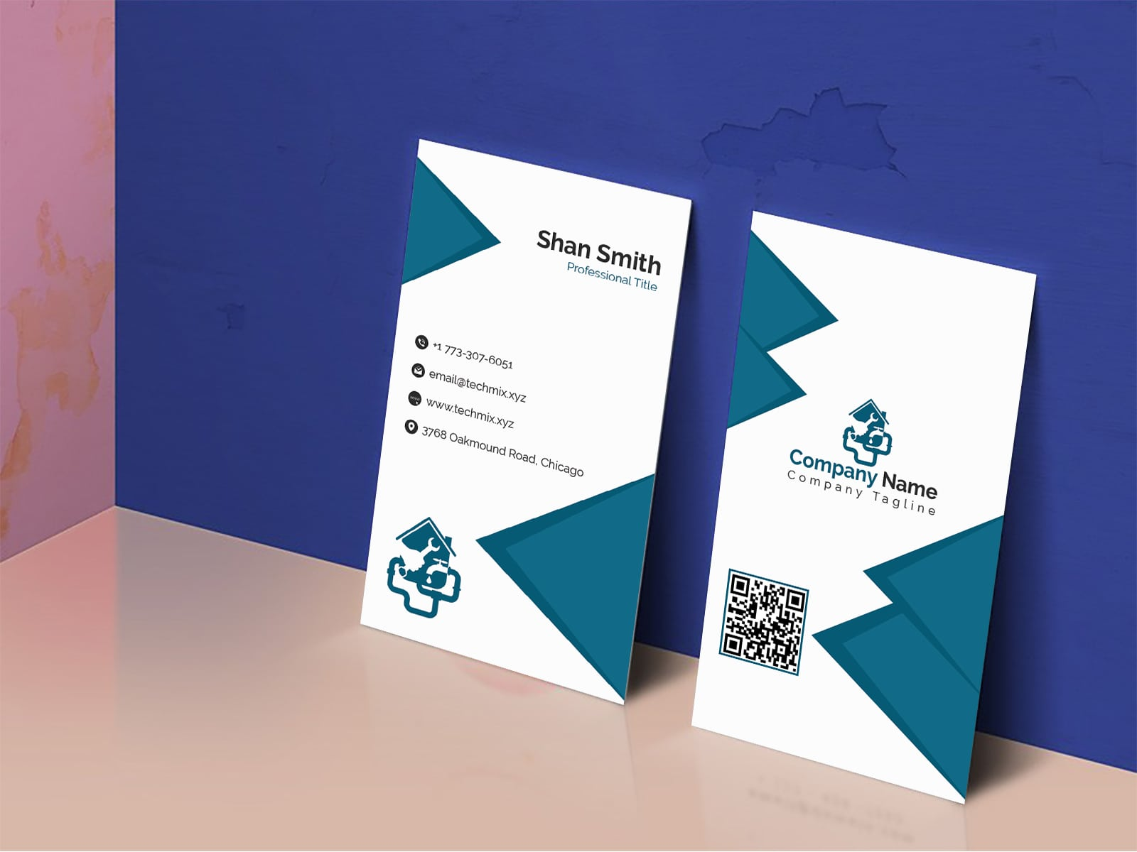 Professional Plumber Business Card Template