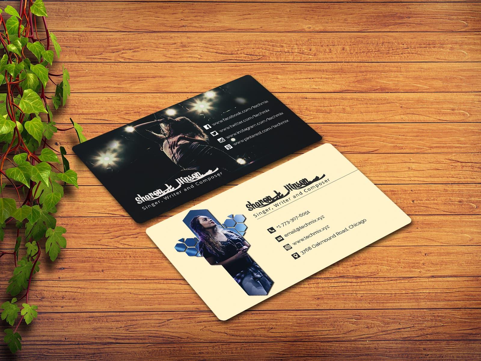 Singer/Musician/Vocalist/Composer Business Card Design