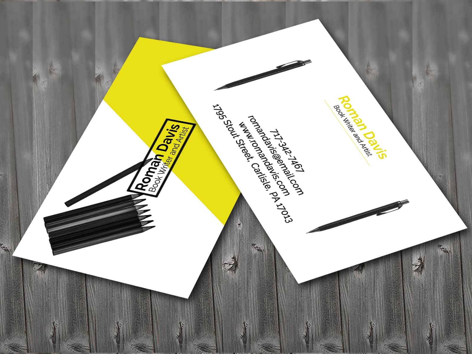 Writer Business Card Design