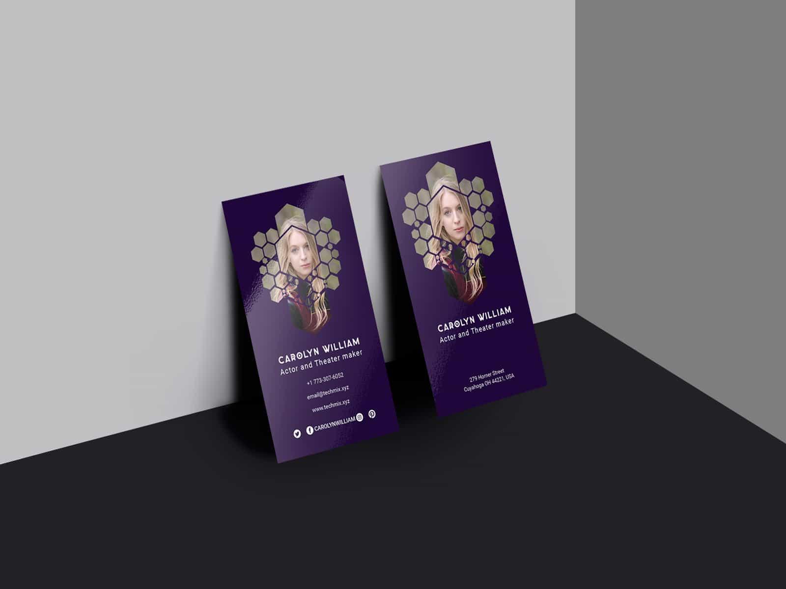 Best Actor/Actress Business Card Template
