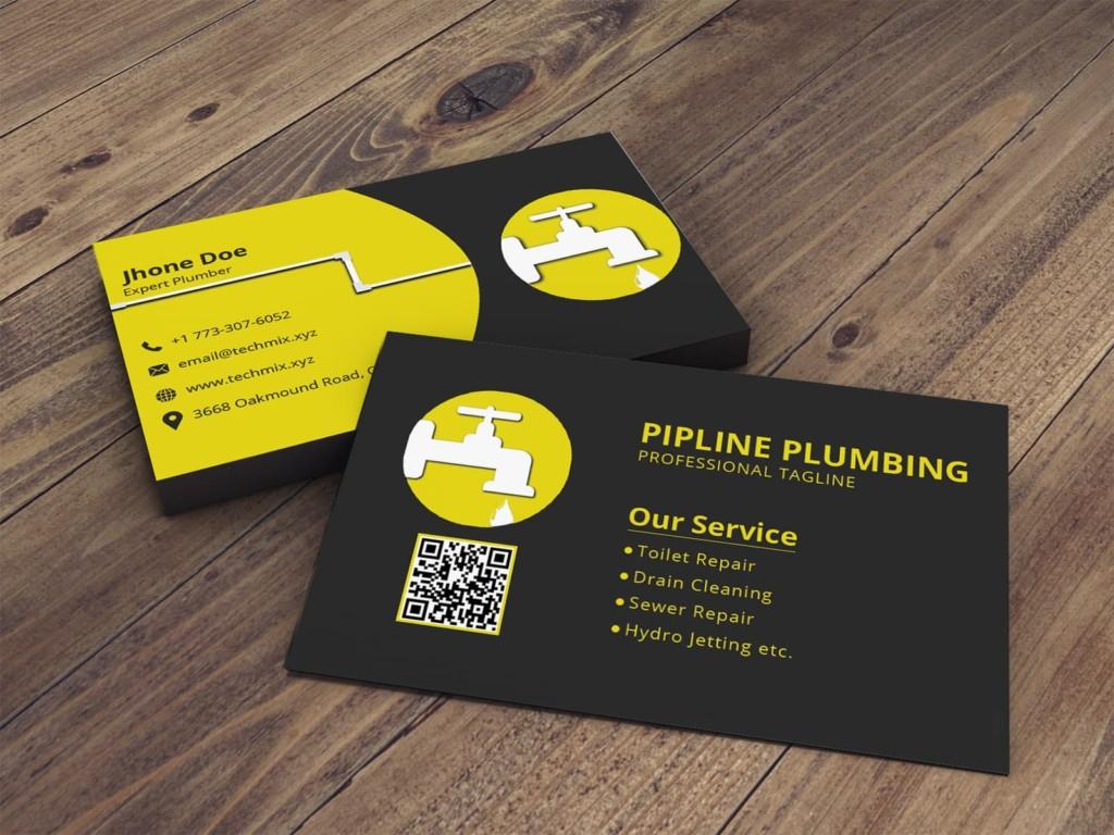 Plumber Business Card Design Template