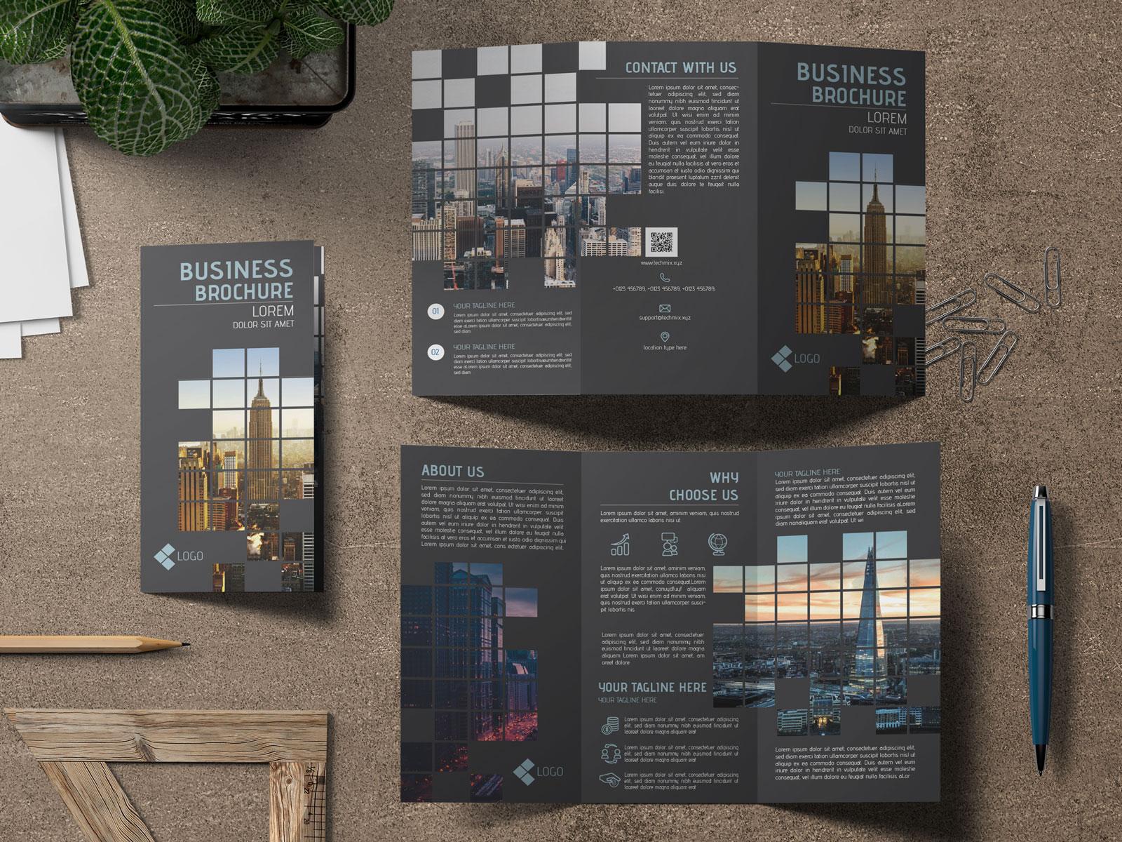Artistic Architectural Flyer Design Black mockup