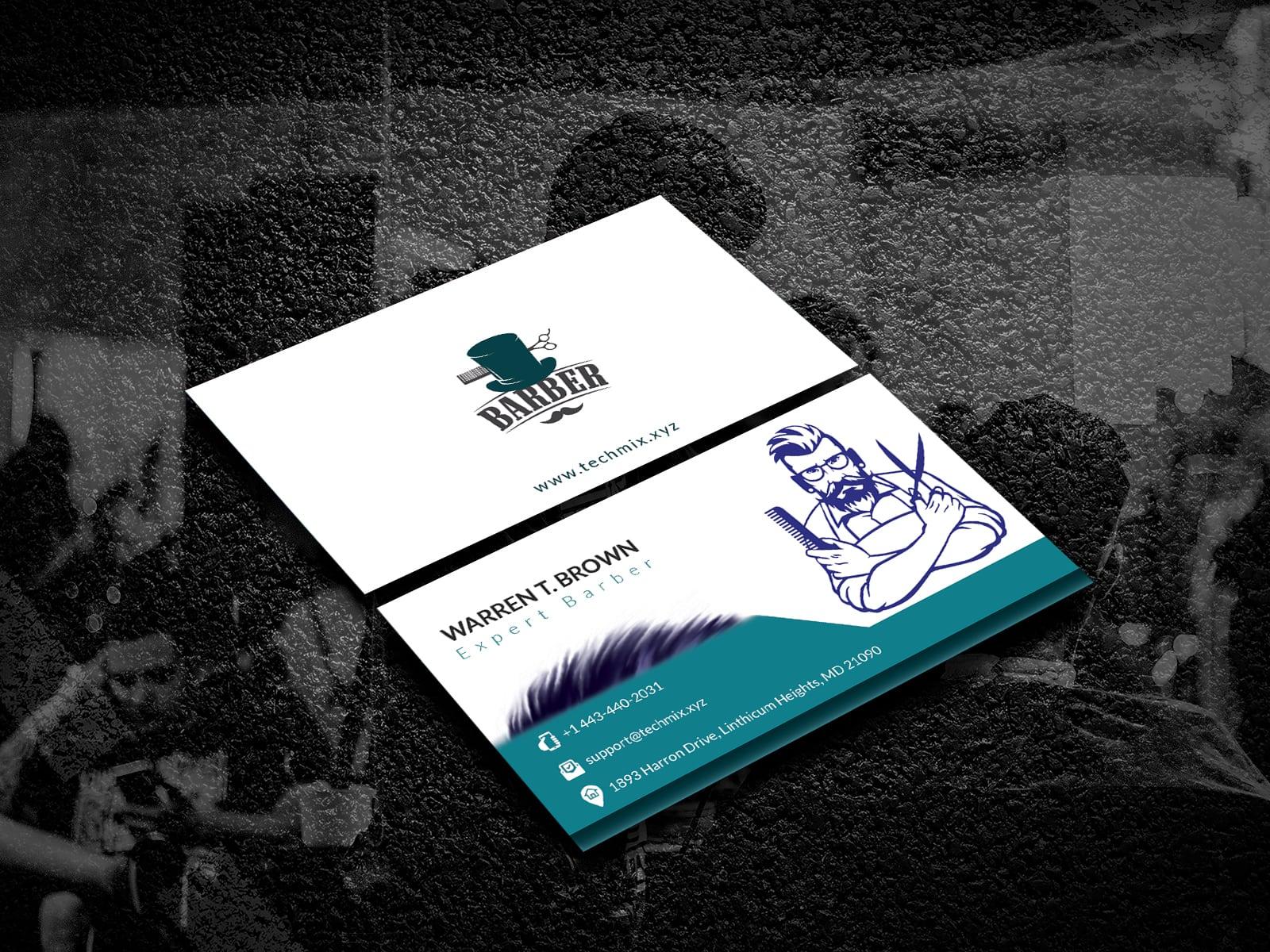 Barber Shop Business Card Template