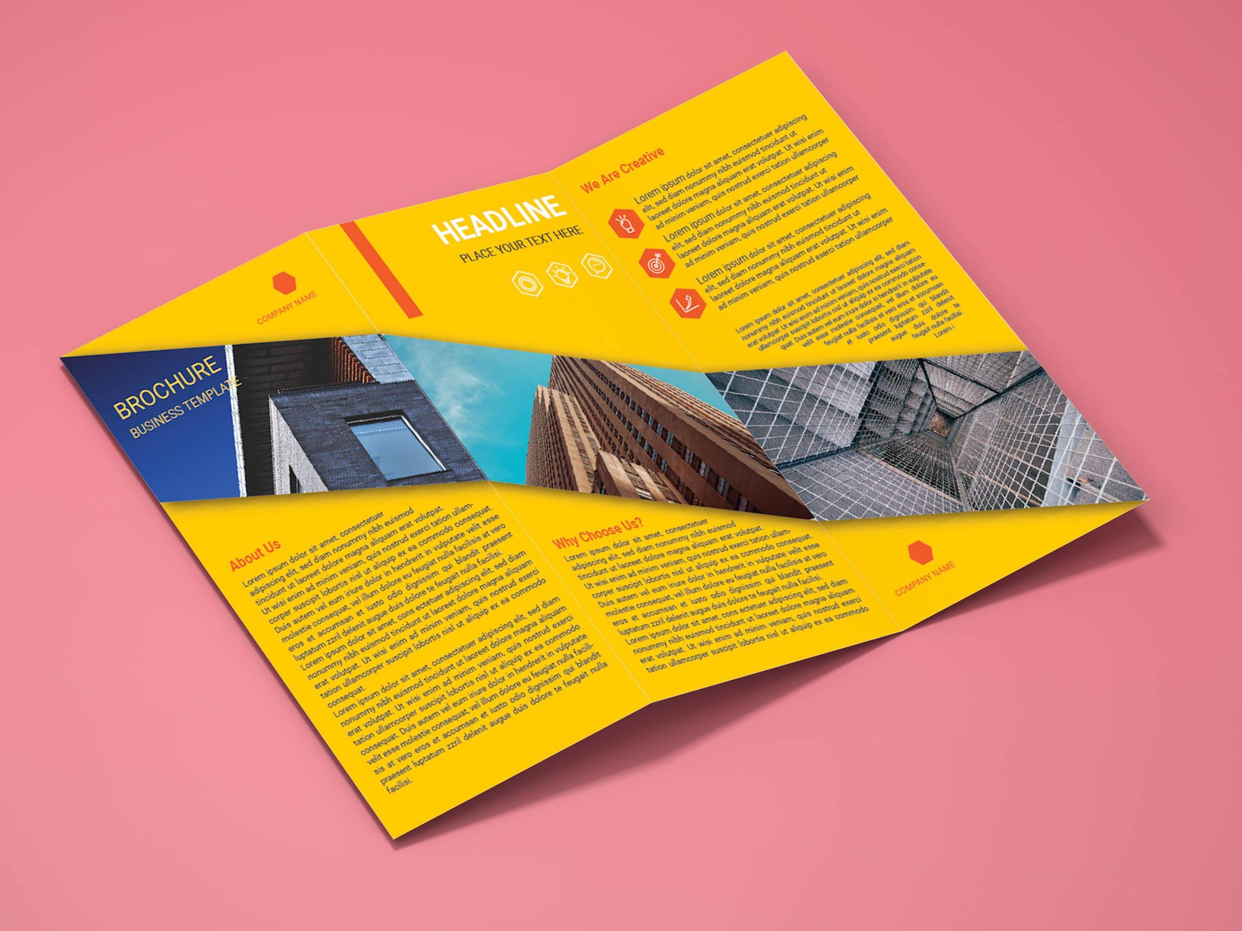 Corporate Architectural Firm Flyer Design Inside mock-up