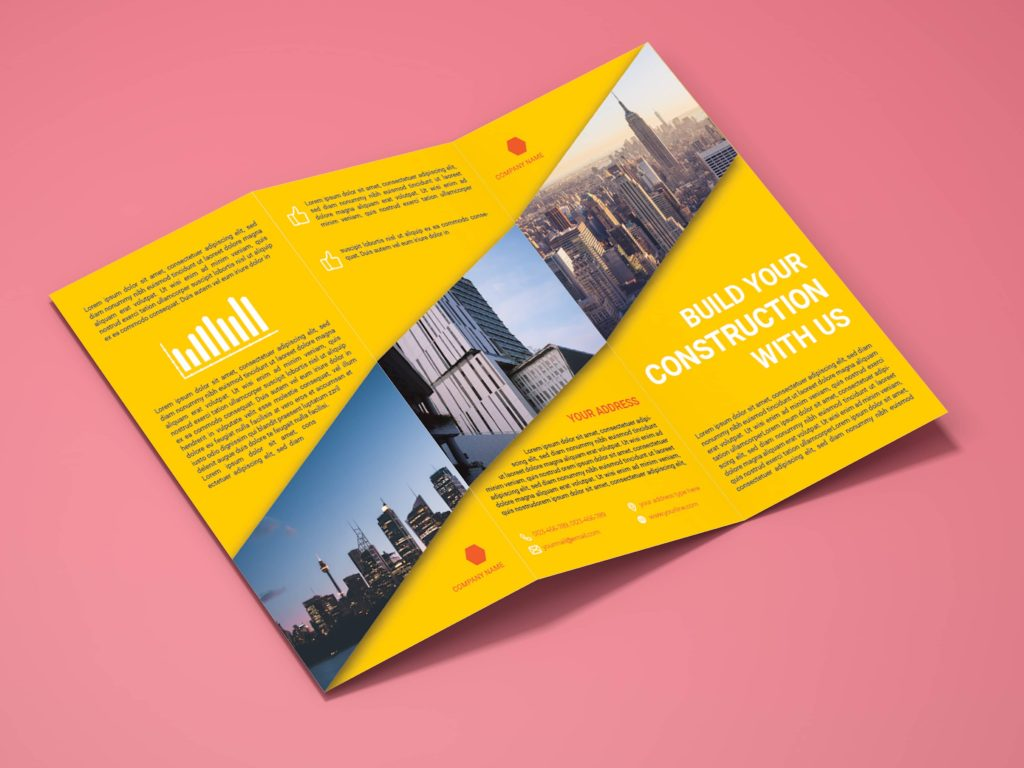 Corporate Architectural firm Trifold Brochure Design outside mock-up