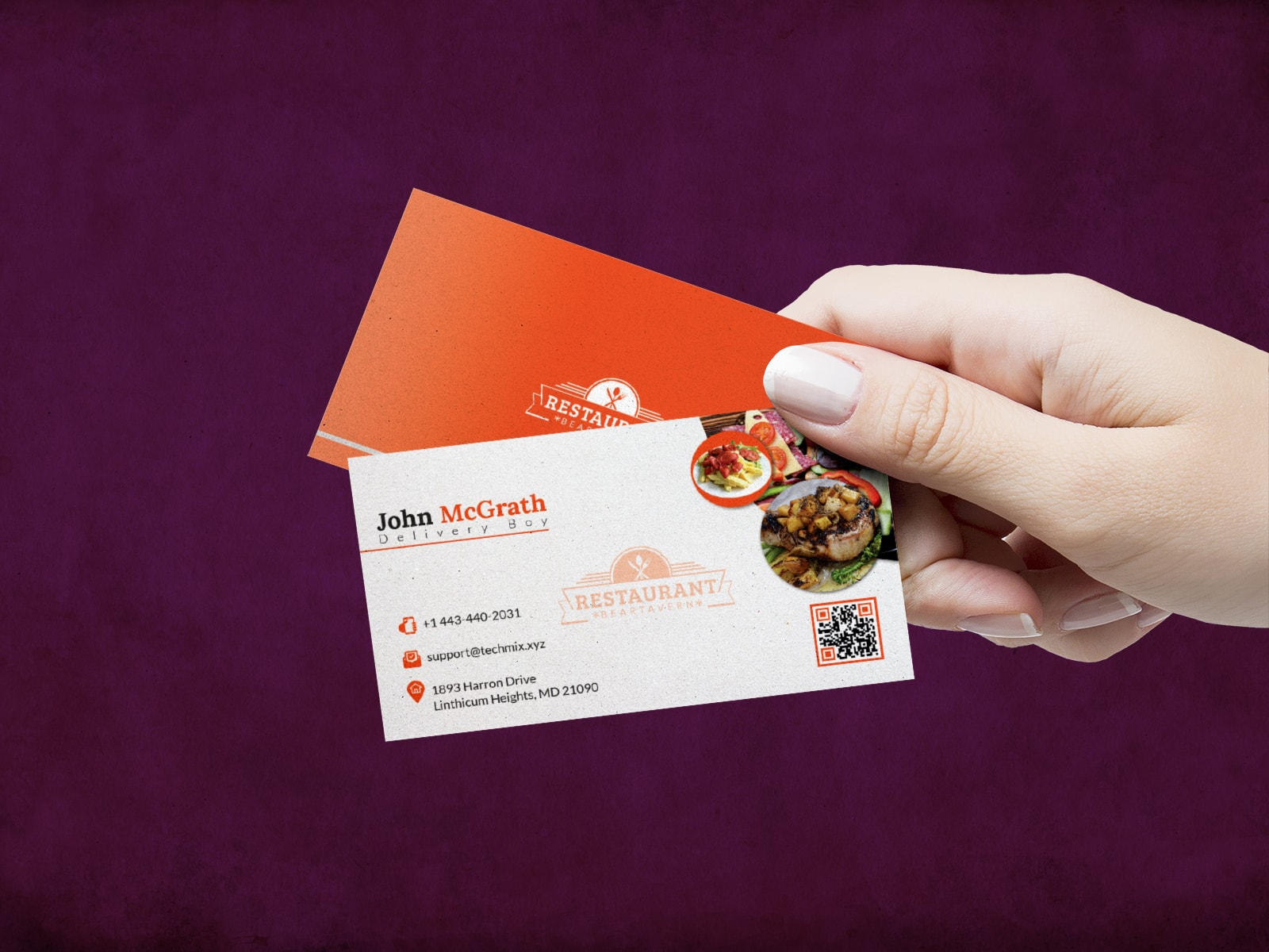 Delivery Boy Business Card
