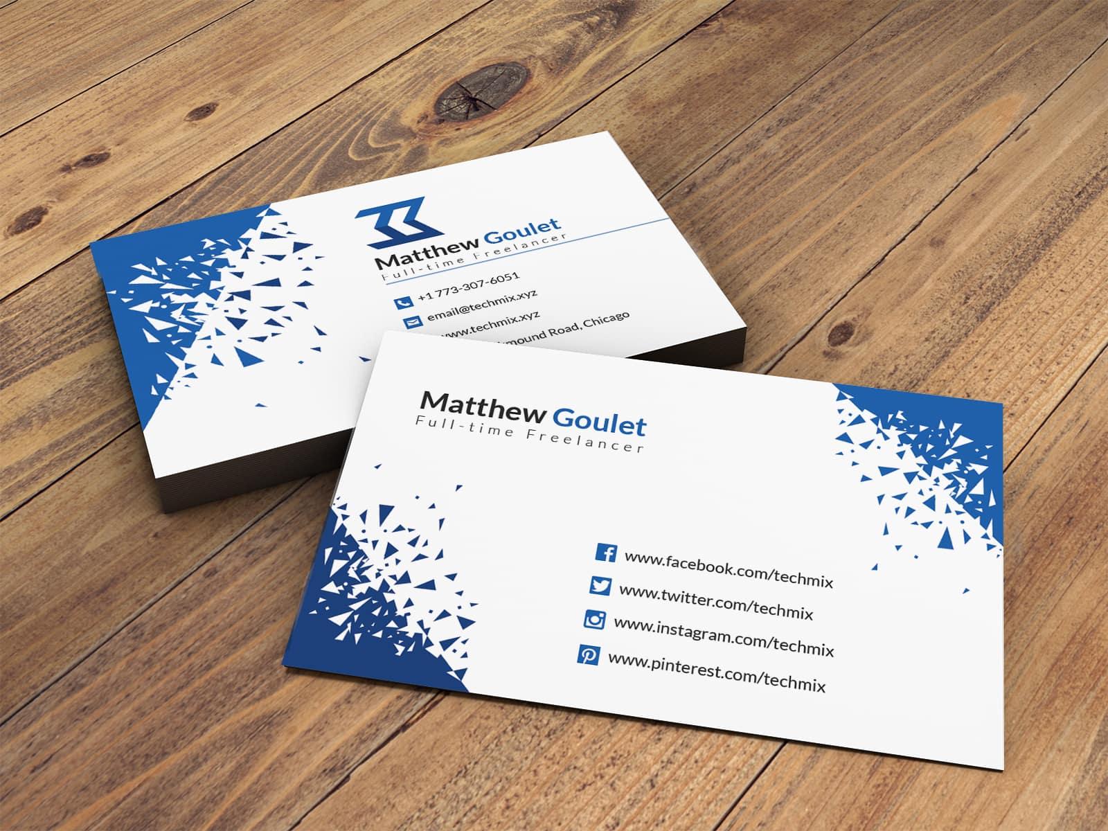 Elegant Freelancer Business Card