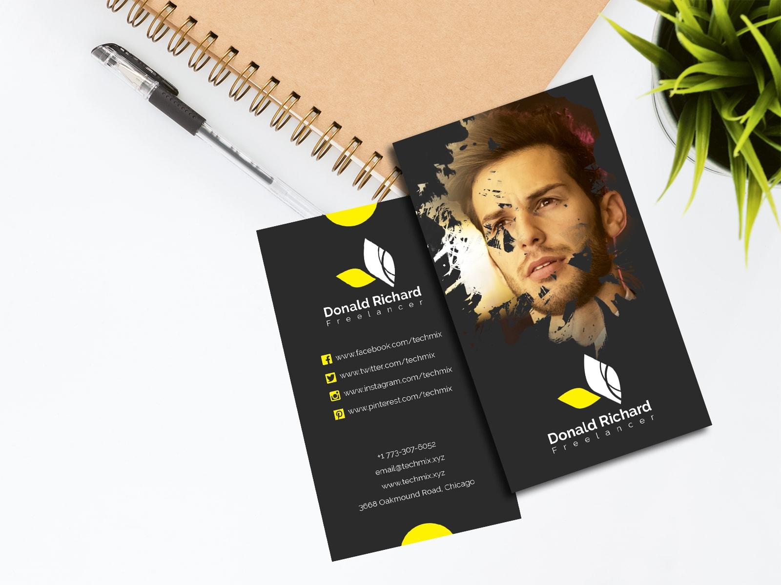 Elegant Freelancer Business Card Template