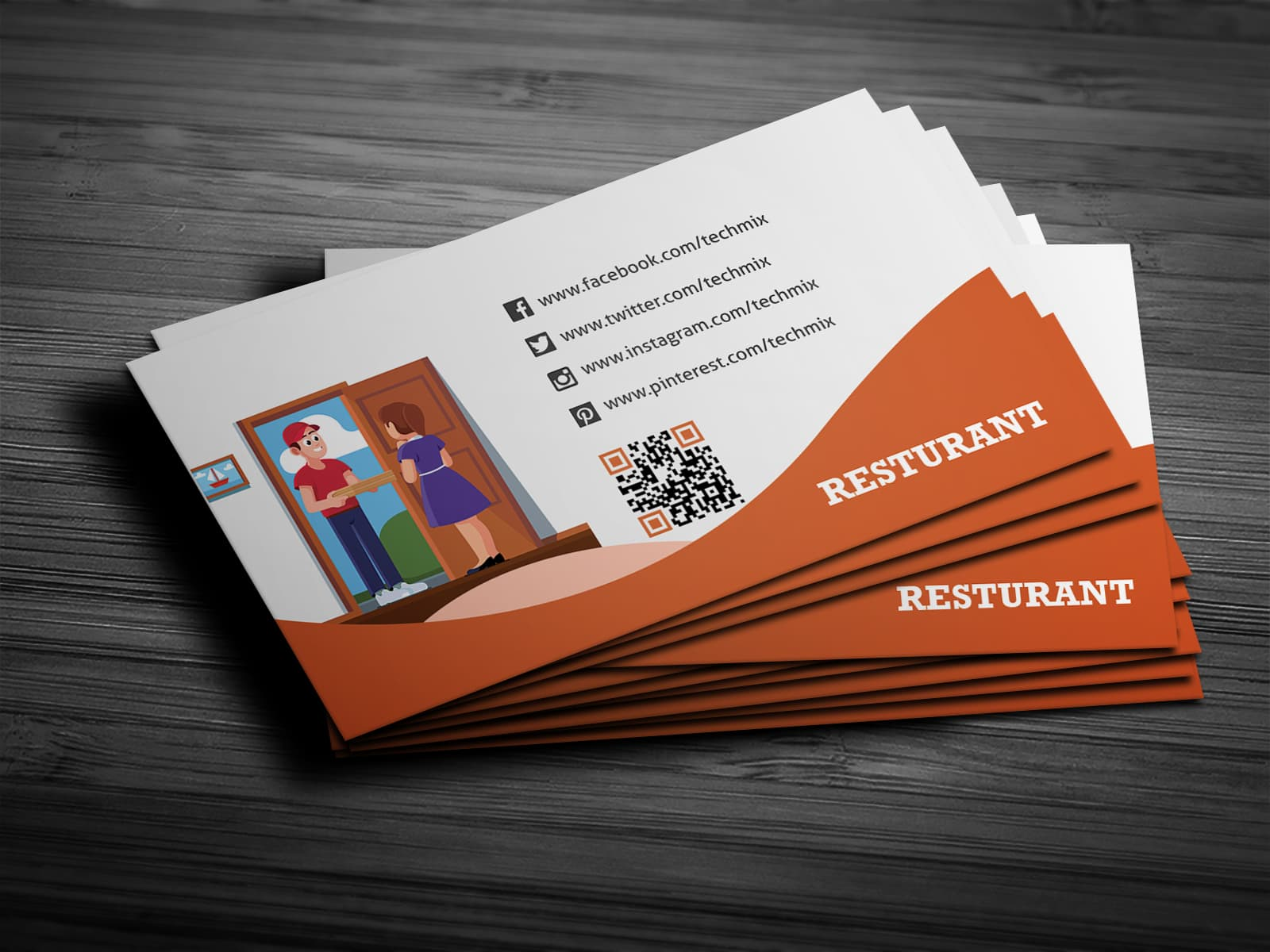 Food Delivery Man Business Card