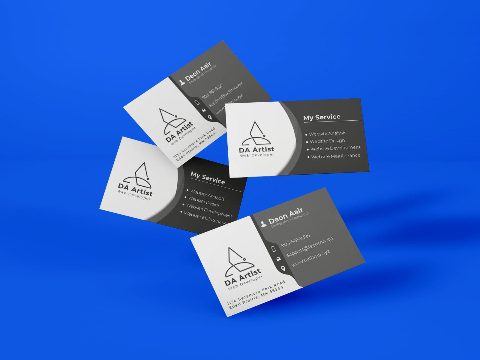 Freelancer Business Card Design