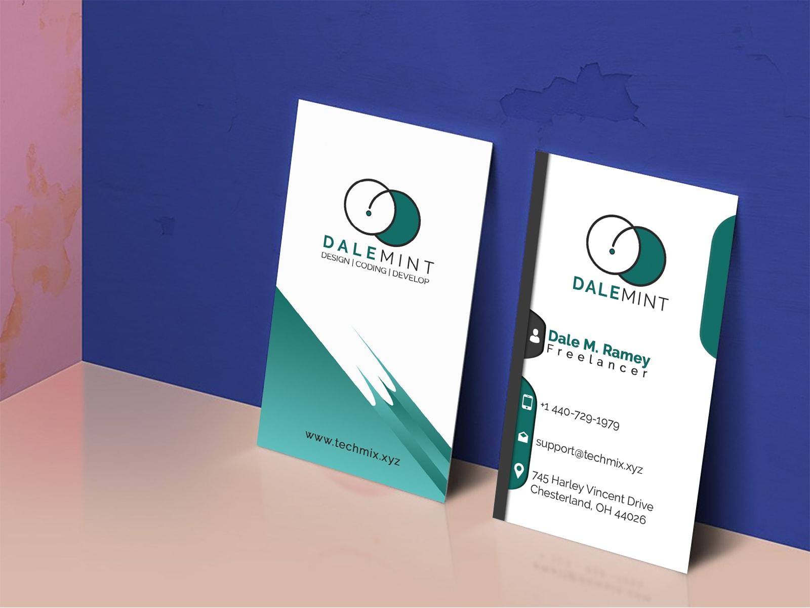 freelancer vertical business card  techmix
