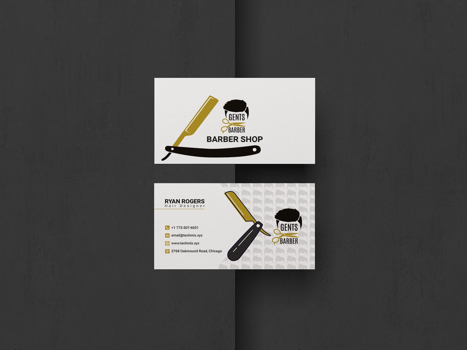 Hair Salon Business Card Techmix