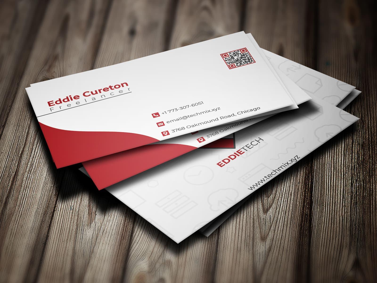 Modern Freelancer Business Card