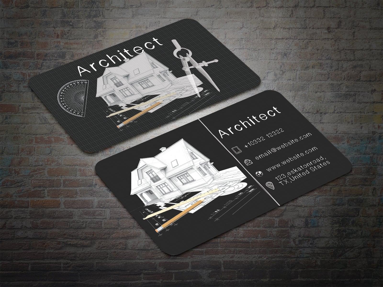 business card for architect  techmix