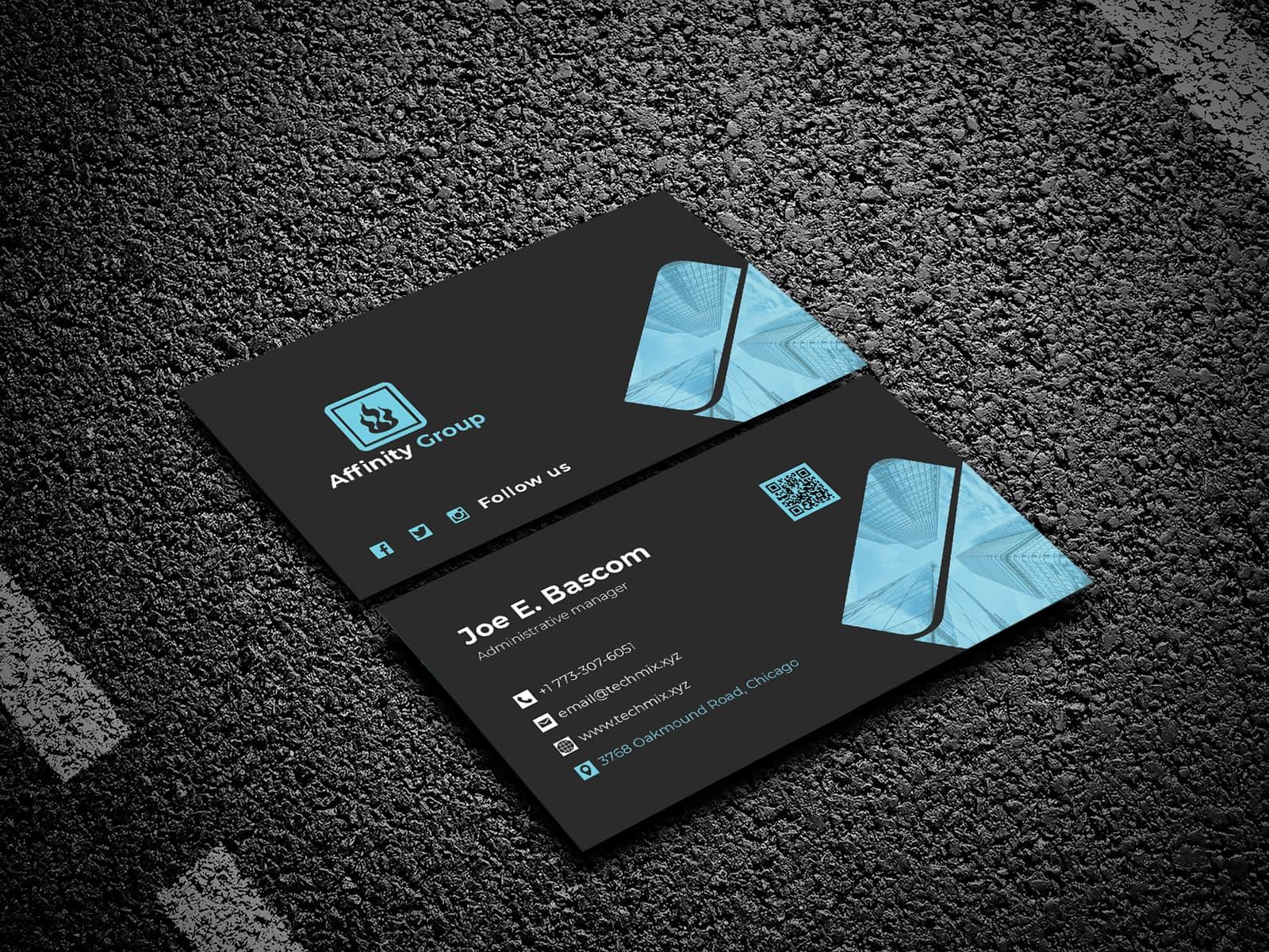 Real Estate Business Card Black