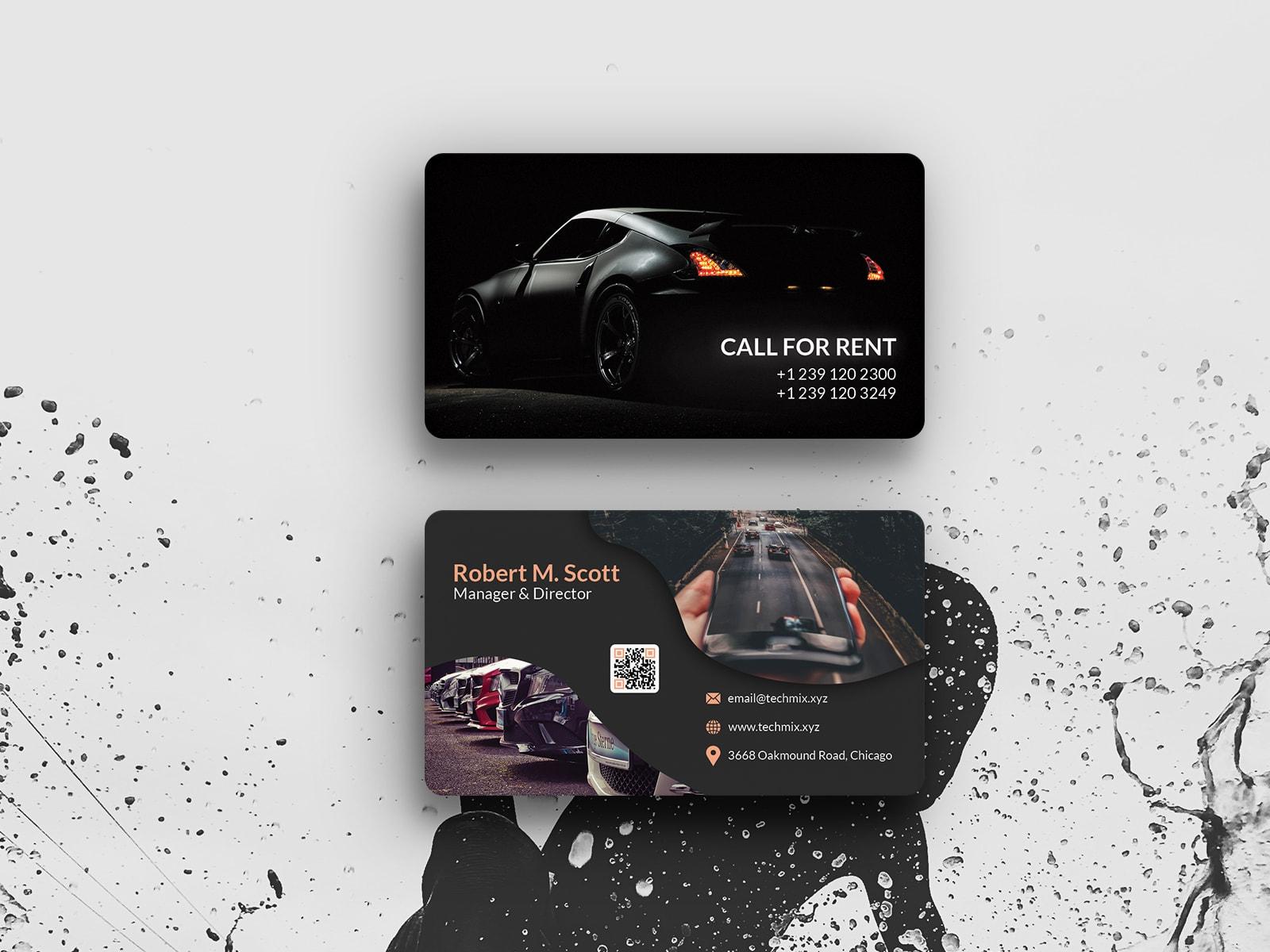 Rent a Car Business Card Design