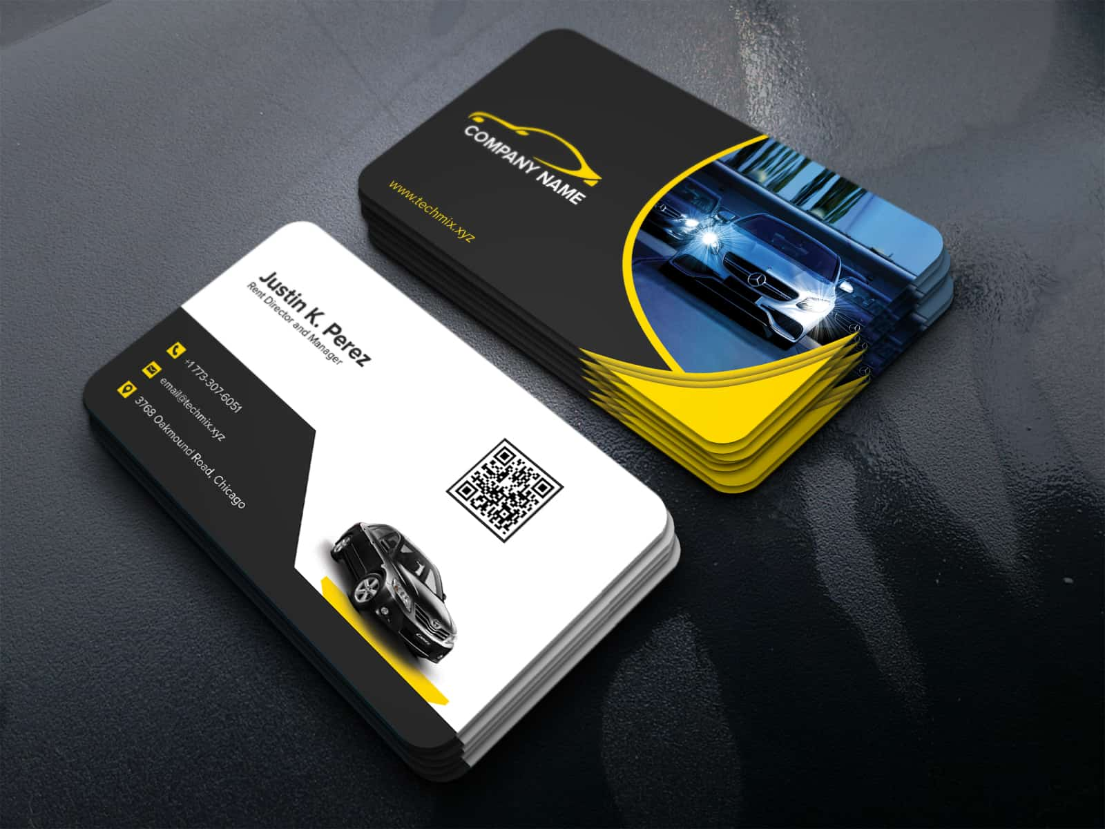 Rent a Car Business Cards Template