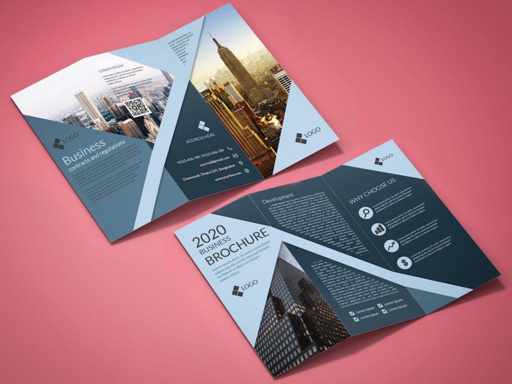 Tri-Fold Corporate Business Brochure Template