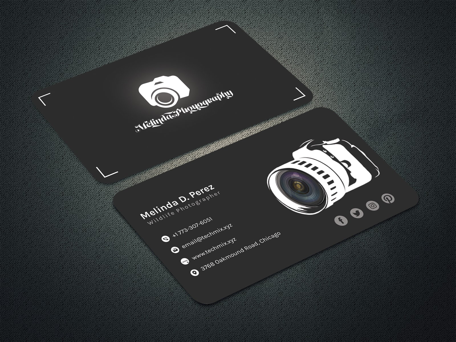 Black and White Photographer Business Card